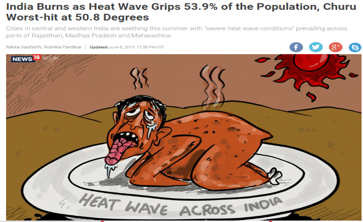 India Burns as Heat Wave Grips 53.9% of the Population, Churu Worst-hit at 50.8 Degrees