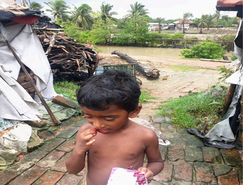Children at the receiving end of climate change