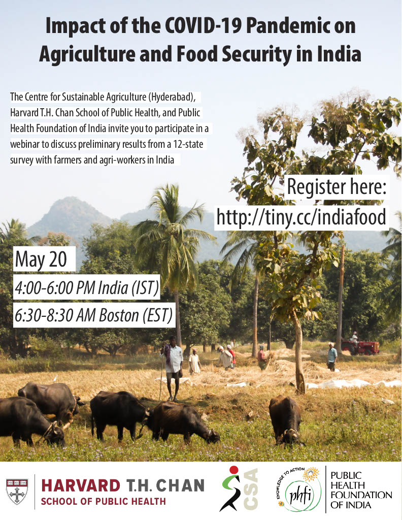 Impact of the COVID-19 Pandemic on Agriculture and Food Security in India