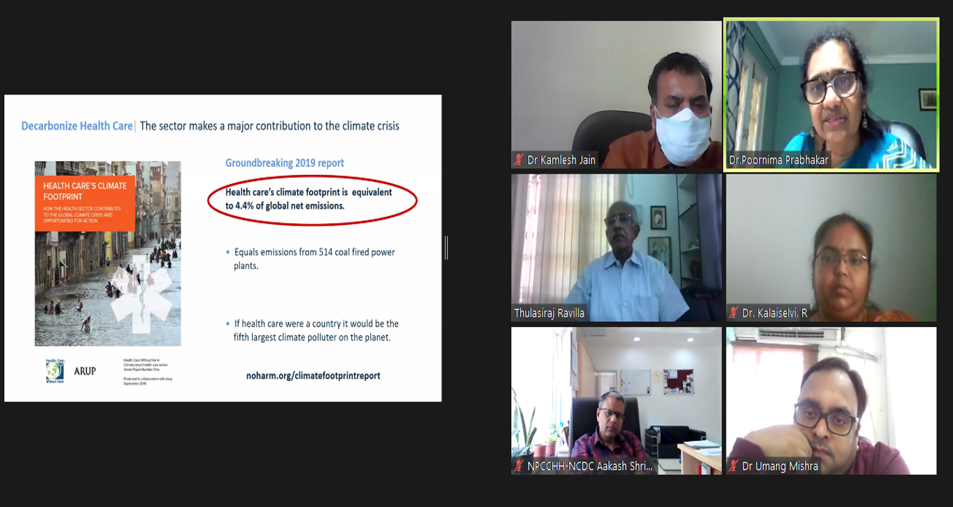 World Environment Day 2021 Webinar by National Programme on Climate Change and Human Health (NPCCHH), Ministry of Health and Family Welfare (MoHFW), Government of India